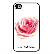 personlig sak rose utforming metall sak for iPhone 4 / 4S