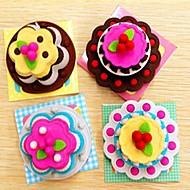 exquisito pastel en forma de estudiante papelería borrador de goma (color clasificado)