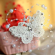 Knitted Butterfly Party Headpieces/Barrette with Imitation Pearls