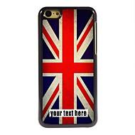 gepersonaliseerd geval de Union Jack ontwerp metalen behuizing voor de iPhone 5c
