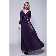 A-line Plus Sizes / Petite Mother of the Bride Dress -Grape / Fuchsia / Dark Green / Ink Blue / Pool / Lavender / Royal Blue / Silver /