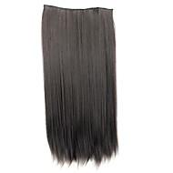 24 tommers 120g lang syntetisk rett klipp i hair extensions med 5 klipp