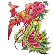 1pc waterdichte veelkleurige grote phoenix patroon tattoo sticker