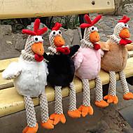 ססגוניות צעצוע עוף ממולאת חידוש, כותנה