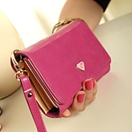 Women's PU Leather Envelope Clutch Bag Purse Wallet