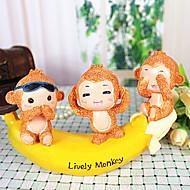 Cute Monkeys and Banana No Evil Decoration