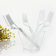 engangs gennemsigtig plast middag gaffel, 1000pcs / sæt