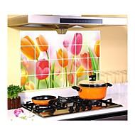 Botânico Desenho Animado Floral Formas Lazer Wall Stickers Autocolantes de Aviões para Parede Autocolantes de Parede Decorativos Material
