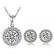 Women's Cubic Zirconia Round Dangling Sets-Set of 2(More Colors)