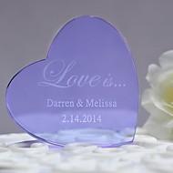 Kuchendeckel, personalisierte lila Herz Kristall Kuchendeckel ----- Liebe ist