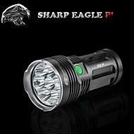 Sharp Eagle® LED svítilny 9600LM Lumenů 5 Režim Cree XM-L T6 18650Voděodolný / Dobíjecí / Odolný proti nárazům / Protiskluzové držadlo /