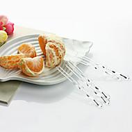 Kis méretű eldobható átlátszó gyümölcs villa, 4000pcs / set