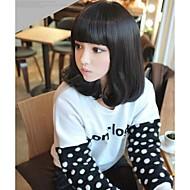 angelaicos dámské Lolita Harajuku stylu dívky roztomilé přirozeně vypadající stran pro denní nošení, vlasy bob paruky středně hnědá černá