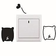 switch wall stickers Vægoverføringsbilleder, tegneserie gris pvc skifte mærkat