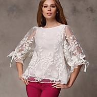Women's Valuable Gracegul Stitchwork Lotus Sleeve Loose Shirt