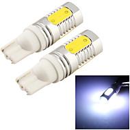 YouOKLight™ 2PCS T10 8W 720lm 4-COB LED 6000K  White Light LED Car Bulb Light(12V)