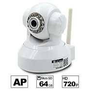 besteye® hd1280 * 720p H.264 camera wifi ip 1.0m PTZ viziune IR noapte cu fir / wirless carte 64GB TF