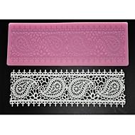 Four-C dort dodávky krajky silikonovou podložku krajky formy pro cukrovou řemesla, silikonová podložka fondant dort nářadí barva růžová