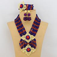 Latest New Multicolor Crystal Jewelry Set Fashion Beads Jewelry Set