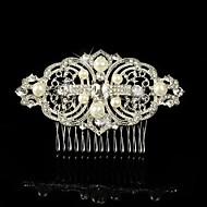 Capacete Pentes de Cabelo/Flores Casamento/Ocasião Especial Prata de Lei/Liga Mulheres/Menina das Flores Casamento/Ocasião Especial