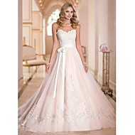 A-line Court Train Wedding Dress -Sweetheart Tulle