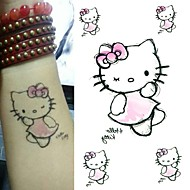 Cute Cartoon Cat Tattoo Stickers Temporary Tattoos(1 Pc)