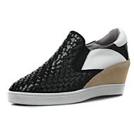 Women's Shoes Leather Wedge Heel Round Toe Pumps Casual More Colors available