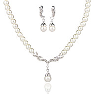 Graceful Ladies'/Women's Alloy Wedding/Party Jewelry Set With Pearl/Rhinestone