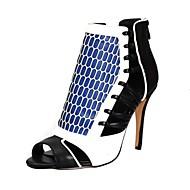 Women's Shoes Leather Stiletto Heel Peep Toe Sandals Dress
