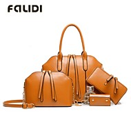 Falidi® Women'S Oil Wax Leather Shoulder Bag Hand Diagonal Family Of Four Retro Big