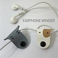 regalo lindo del auricular del perro niños de la devanadora línea de cable de alambre de la boda de cumpleaños del bebé ducha retorno (color al azar)