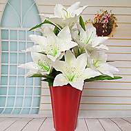 9 head Fabric Lily White