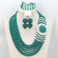 Ensemble de bijoux Cristal Doré Femme