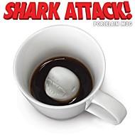 ataque de tiburón novedad regalo mandíbulas taza de té del café taza de porcelana bebida gag