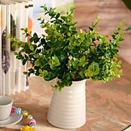 """13.7 """"l sor 1 természetes 7 botokkal zöld eukaliptusz levelek műanyag növények"""