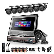 annke® 8ch ahd 960H / DVR hvr / NVR + 8 800tvl analogie 100ft IR système de caméra de sécurité de vision de nuit (pas de disque dur)