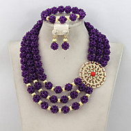 Costume African Beads Jewelry Set Indian Nigerian Bridal Jewelry Set Hot Sale 2015