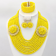 Nigerian Wedding African Beads Jewelry Set Costume African Jewelry Set
