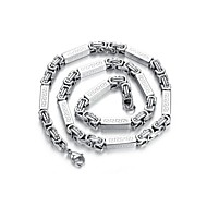 Fashion Silver Titanium Steel Chain Necklace(1 Pc)