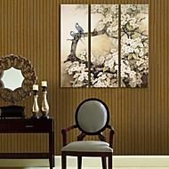e-Home® venytetty kankaalle taidetta kukkia ja lintuja koristemaalausta sarja 3