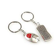 Πληκτρολόγιο ποντίκι ρομαντικό γάμο κλειδί μπρελόκ δαχτυλίδι για την ημέρα του εραστή του Αγίου Βαλεντίνου (ζεύγος)