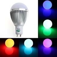 5W GU10 LED Globe Bulbs G60 1 Dip LED 350-400 lm RGB Dimmable / Remote-Controlled / Decorative AC 85-265 V