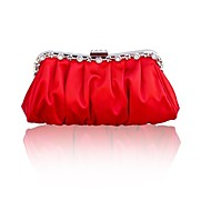 Handbag Silk Clutches/Mini-Bags/Top Handle Bags With Crystal/ Rhinestone