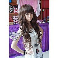 Angelaicos Women Brown Black Long Curly Daily Wear Natural Looking Charming Lolita Harajuku Party Girls Cute Hair Wigs