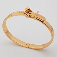 U7® Cool Belt Bracelet 18K Gold Plated 2 Colors Chunky Bangle for Men Fashion Jewelry