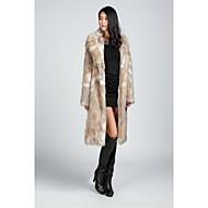 Fur Coats Faux Fur Jackets Long Sleeve Faux Fur Black/Almond