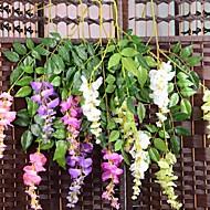 1Pc 3 Ramo Seda / Plástico Orquideas Flor de Mesa Flores artificiais #(74*20*2 cm(29.1*7.9*0.8 in))