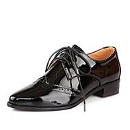 Oxfordky - Lakovaná kůže - Špičatá špička - Dámská obuv - Černá / Modrá / Červená - Běžné - Kačenka