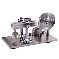 스털링 기계 디스플레이 모델 교육용 장난감 과학&디스커버리 완구 엔진 모터 모델 알루미늄 메탈 광장 LED DIY