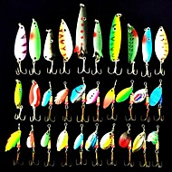 Fishing Lures 30pcs 2.5-13g Spinnerbaits Top Quality Metal Bait Spoon & Spinner